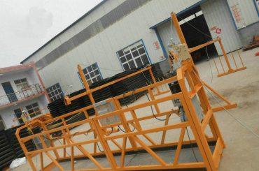 बांधकाम बांधकामासाठी विश्वसनीय ZLP630 चित्रकला स्टील निलंबित वर्किंग प्लॅटफॉर्म (2)
