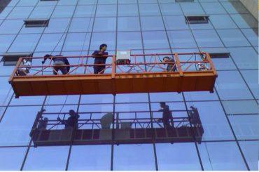 30kn सुरक्षा लॉक Zlp1000 2.2kw 2.5m * 3 सह मजबूत बांधकाम रस्सी निलंबित मंच