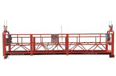 स्टील / हॉट गॅल्वनाइज्ड अस्थायी निलंबित मंच, ZLP500 देखभाल पॅडल