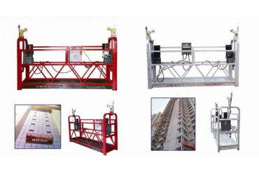 रॅप हँगिंग निलंबित प्रवेश प्लॅटफॉर्म, zlp630 बांधकाम लिफ्ट गोंडोला मशीन