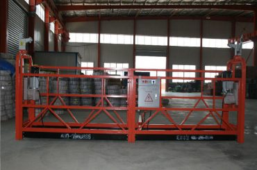 बांधकाम व देखभालीसाठी Zlp1000 8 - 10 मीटर / मिनिट सुरक्षित निलंबित वॉकिंग प्लॅटफॉर्म