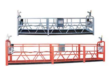 10 मीटर स्टील / अॅल्युमिनियम 3 व्यक्ती कार्यरत असलेल्या ऍक्सेस साधन zlp1000 निलंबित केले