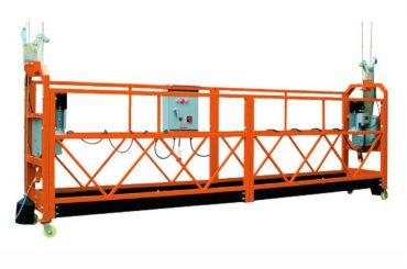 2.5 एम एक्स 3 सेक्शन 1000 किलो निलंबित प्रवेश प्लॅटफॉर्म लिफ्टिंग स्पीड 8-10 मीटर / मिनिट